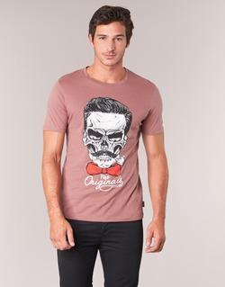 material Men short-sleeved t-shirts Jack & Jones CRIPTIC ORIGINALS Pink