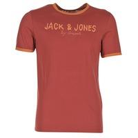 material Men short-sleeved t-shirts Jack & Jones RETRO ORIGINALS Red