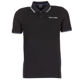 material Men short-sleeved polo shirts Jack & Jones WAZ ORIGINALS Black