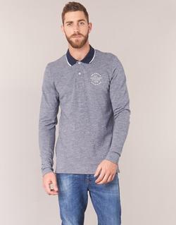 material Men long-sleeved polo shirts Jack & Jones CYMBAL ORIGINALS Grey