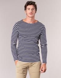 material Men Long sleeved shirts Armor Lux GELGA Marine / White