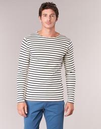 material Men Long sleeved shirts Armor Lux GELGA White / Marine