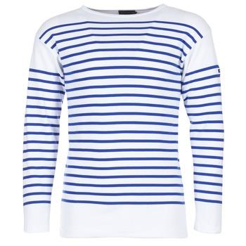 material Men Long sleeved shirts Armor Lux DISJON White / Blue