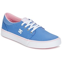 Shoes Girl Low top trainers DC Shoes TRASE TX SE Blue / White