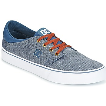 Shoes Men Low top trainers DC Shoes TRASE TX SE Marine / White