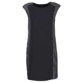 material Women Short Dresses Armani jeans LAMIC Black / Grey