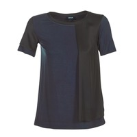 material Women short-sleeved t-shirts Armani jeans DRANIZ Marine / Black