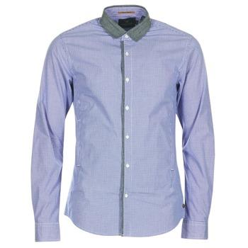 material Men long-sleeved shirts Scotch & Soda JILLA Blue