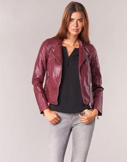 material Women Leather jackets / Imitation le Vero Moda KERRI Bordeaux