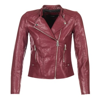 material Women Leather jackets / Imitation le Vero Moda KERRI BORDEAUX