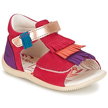 Shoes Girl Sandals Kickers BIHILANA Fuschia / Orange / Violet