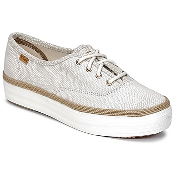 Shoes Women Low top trainers Keds TRIPLE DALMATA DOT LEATHER Cream