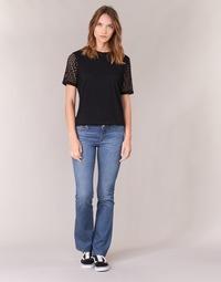 material Women bootcut jeans Yurban IHEKIKKOU BOOTCUT Blue / Medium