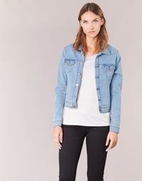 material Women Denim jackets Yurban IHELEFI Blue / Clear