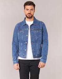 material Men Denim jackets Yurban IHEDEM Blue / Medium