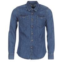 material Men long-sleeved shirts Yurban HERZI Blue / Medium