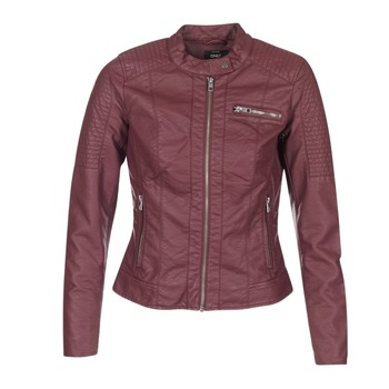 material Women Leather jackets / Imitation le Only READY BORDEAUX