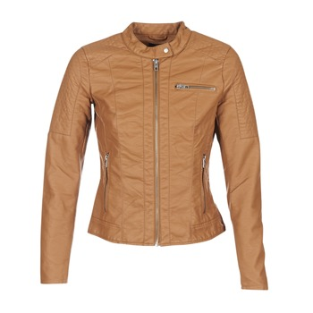 material Women Leather jackets / Imitation le Only READY Cognac