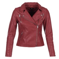 material Women Leather jackets / Imitation le Only MADDY Red
