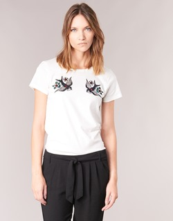 material Women short-sleeved t-shirts Only KIRA White