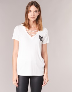 material Women short-sleeved t-shirts Only MILI White