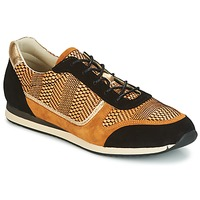 Shoes Women Low top trainers Bocage LAURETTE Black / Ocre tan