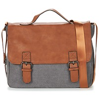 Bags Men Messenger bags Casual Attitude HENVI Grey / Brown