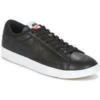 Shoes Women Low top trainers Nike BLAZER LOW LEATHER W Black