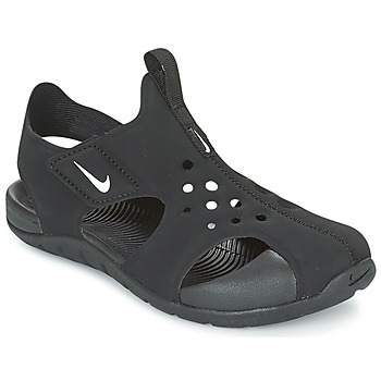 Shoes Children Sandals Nike SUNRAY PROTECT 2 CADET Black / White