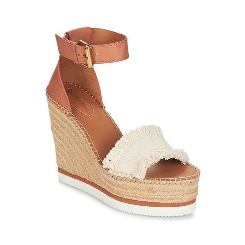 Shoes Women Espadrilles See by Chloé SB28152 Cognac / Beige