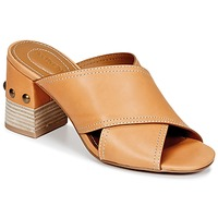 Shoes Women Mules See by Chloé SB30083 Camel