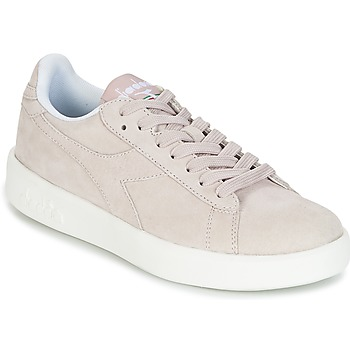 Shoes Women Low top trainers Diadora GAME WIDE NUBE Taupe