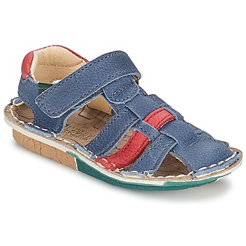 Shoes Boy Sandals El Naturalista KIRI Blue / Red
