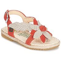 Shoes Girl Sandals El Naturalista SAMOA Orange / ECRU