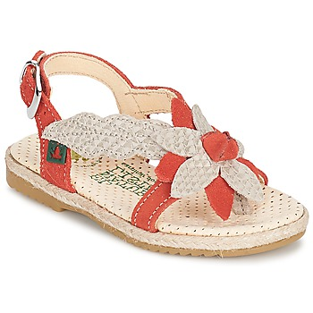 Shoes Girl Sandals El Naturalista SAMOA Orange / Ecru