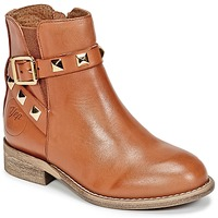 Shoes Girl Mid boots Young Elegant People CELIAL Cognac