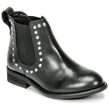 Shoes Girl Mid boots Young Elegant People FOSTINET Black