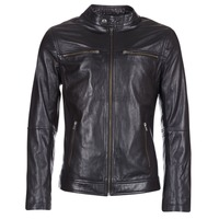 material Men Leather jackets / Imitation le Casual Attitude HEXO Black