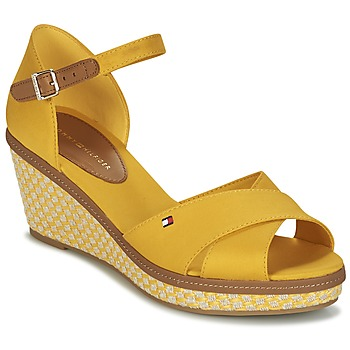 Shoes Women Sandals Tommy Hilfiger ICONIC ELBA SANDAL BASIC Yellow