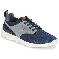 Shoes Men Low top trainers Pepe jeans JAYDEN DENIM Marine / Grey