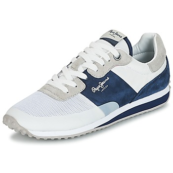 Shoes Men Low top trainers Pepe jeans GARRET SAILOR White / Blue
