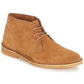 Shoes Men Mid boots Selected SHH ROYCE LIGHT SUEDE BOOT Cognac