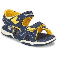 Shoes Children Sandals Timberland ADVENTURE SEEKER 2-STRAP SANDAL Blue