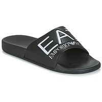 Shoes Sliders Emporio Armani EA7 SEA WORLD VISIBILITY M SLIPPER Black / White