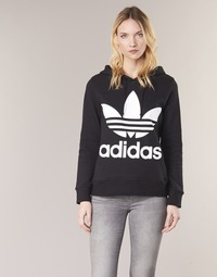 material Women sweaters adidas Originals TREFOIL HOODIE Black