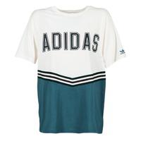 material Women short-sleeved t-shirts adidas Originals ADIBREAK SS TEE White / Marine