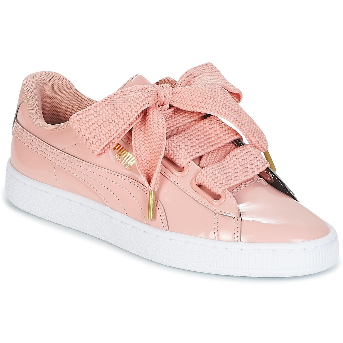 puma rosa basket