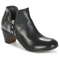 Shoes Women Ankle boots Moma KENIA-NERO-VULCANO-ARGENTO Black