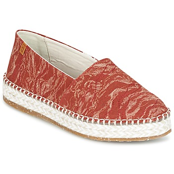 Shoes Women Espadrilles El Naturalista SEAWEED CANVAS Red / Orange