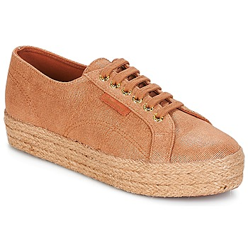 Shoes Women Low top trainers Superga 2730 LAME DEGRADE W Brown / Pink / Gold